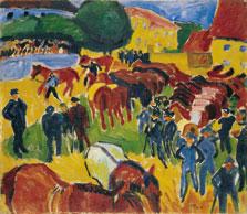 """Feria de caballos"", 1910 Max Pechstein"